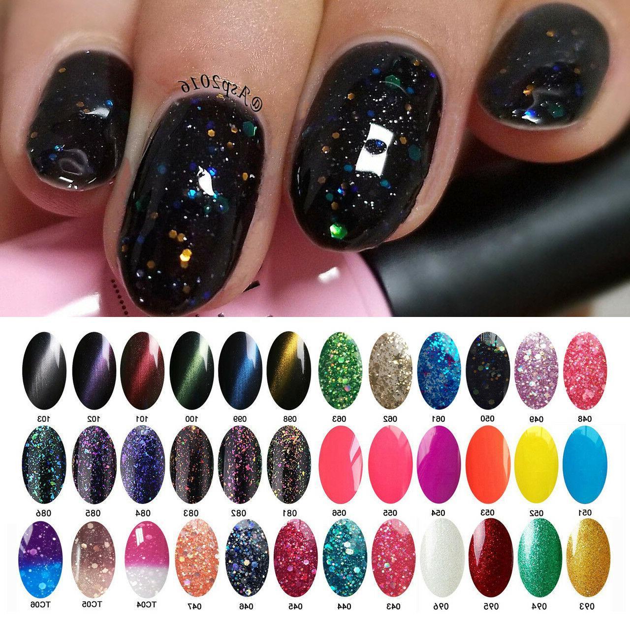 6 PCS AIMEILI Colorful Soak Off UV LED Gel Nail Polish 10ml