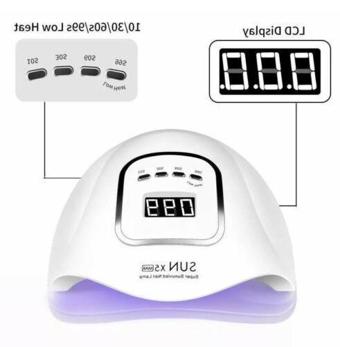 80W UV Polish Dryer Acrylic Curing Light Spa