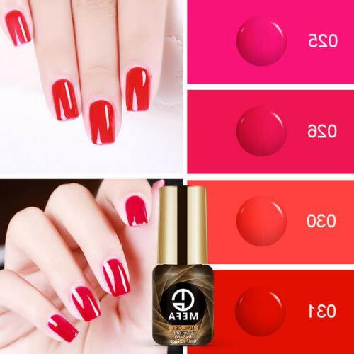 MEFA 8ML 6pcs/set Gel Nail Polish UV LED Soak Off Varnish Ma