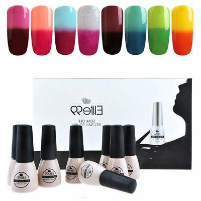 Elite99 8pcs Color-changing Gel Nail Polish Manicure Starter