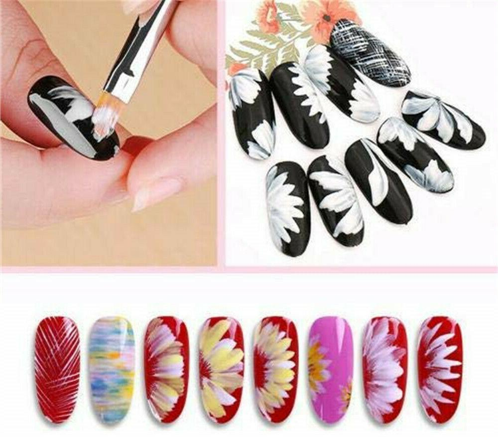 8Pcs Art Gradient Draw Painting UV Pen Manicure