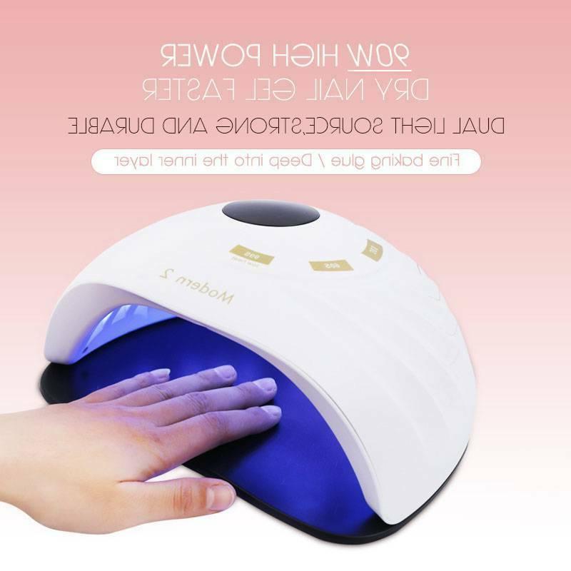 90W Polish Dryer Gel Acrylic Curing Light Spa Professional 2891