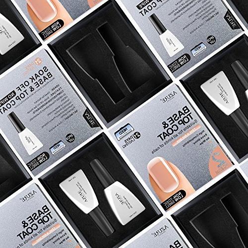 Base Coat Top Coat Set UV Nail Polish LED Lamp 0.4 by AZUREBEAUTY