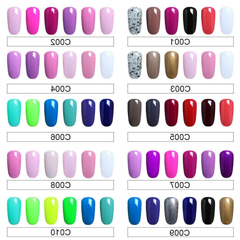 Elite99 Nail Polish LED Nail Art 6pcs Set