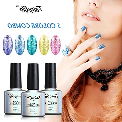 FairyGlo Colour Platinum Nail Polish UV Manicure Set Exclusive Beauty Wearing Collection New Top