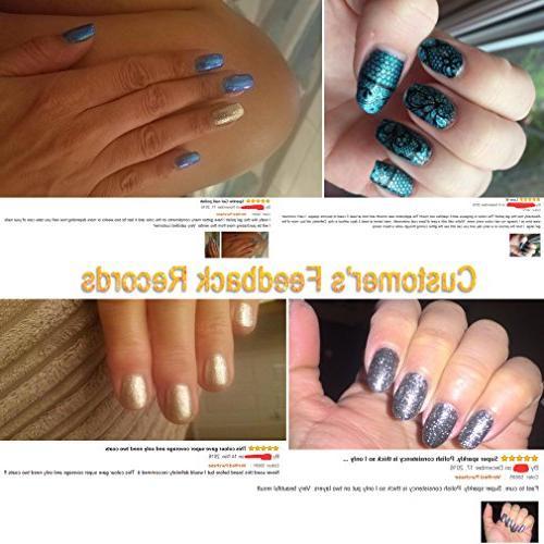 FairyGlo Colour Combo Platinum Gel Nail UV Manicure Nail Art Set Collection Series Base Top 10ml C58001