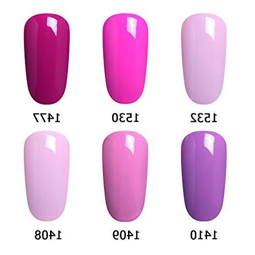 Elite99 Gel Polish, Gel Art Manicure of 6