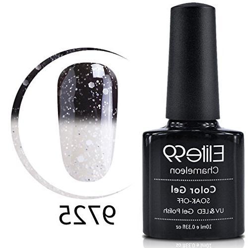 Elite99 Gel Nail Polish, Snowy Thermal Temperature Color Cha