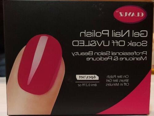 gel nail polish set soak off color