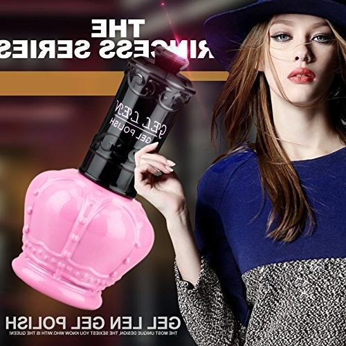 Gellen Polish UV 15ml Pink Bottle Collection Mixed Colors#054