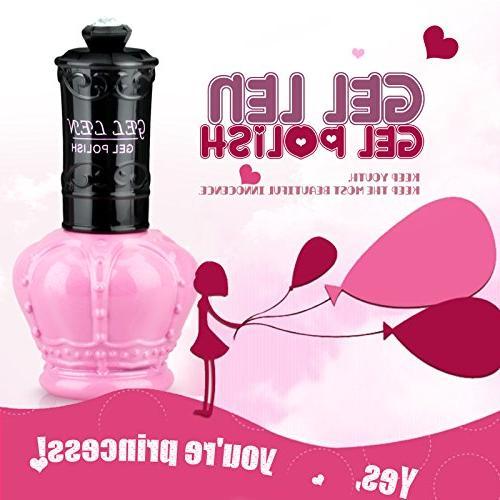 Gellen Polish Colors UV 6Pcs 15ml Pink Bottle Mixed