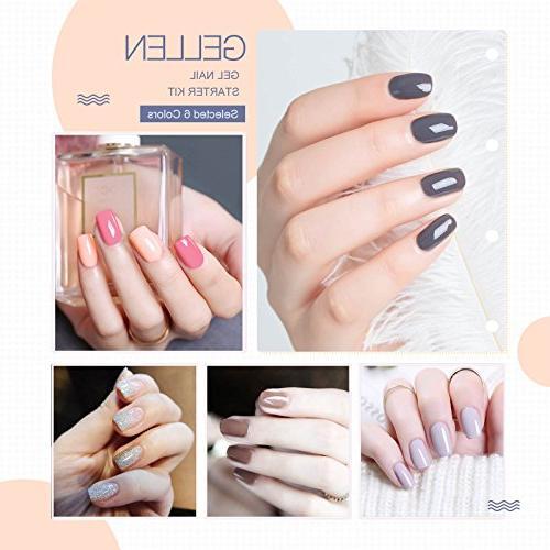 Gellen Starter 6W Nail Top 6 Colors Nail Art Tools Portable