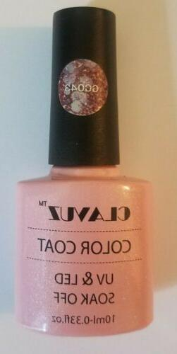 CLAVUZ Gel Nail Polish UV LED Soak Off Color Top Base Coat M