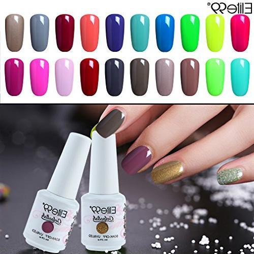 Elite99 Gel Gel Nail Polish UV LED Nail Art Pink 8ml