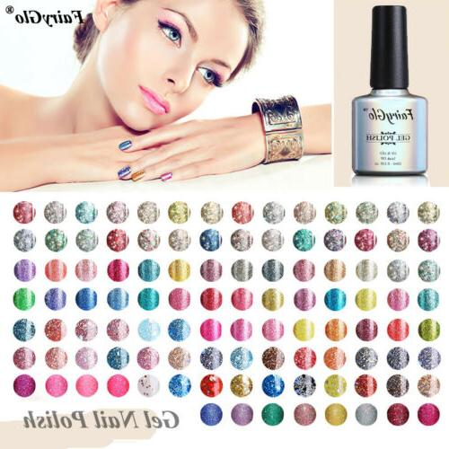 led starry supper diamond glitter gel nail