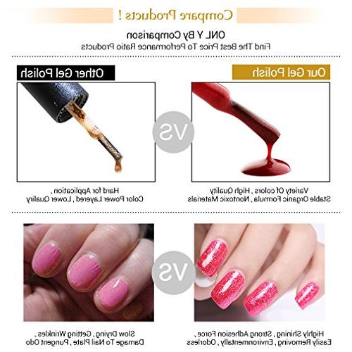 FairyGlo 5 Platinum Gel UV LED Manicure Set Beauty Collection New Series Top 10ml