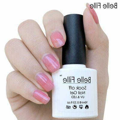 BELLE UV Gel Jelly Gel White Soak Varnish