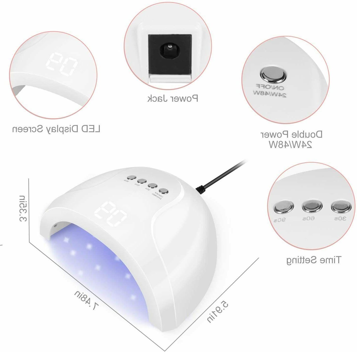 NEW UV Curing Lamp Nail Timer Settings Auto Sensor