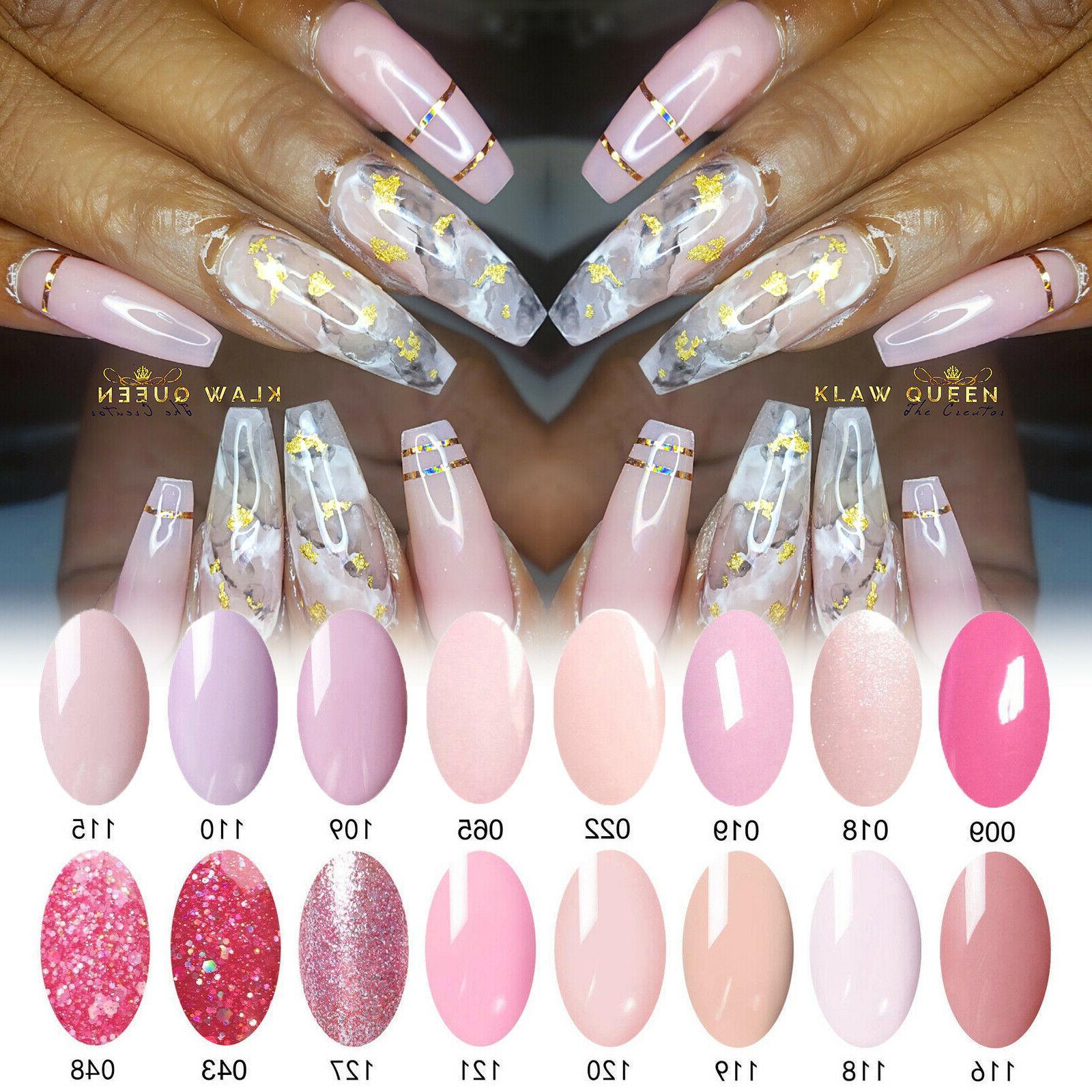 pink nail gel polish uv led soak