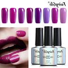 FairyGlo Purple Soak Off UV LED Gel Color Nail Polish Top an