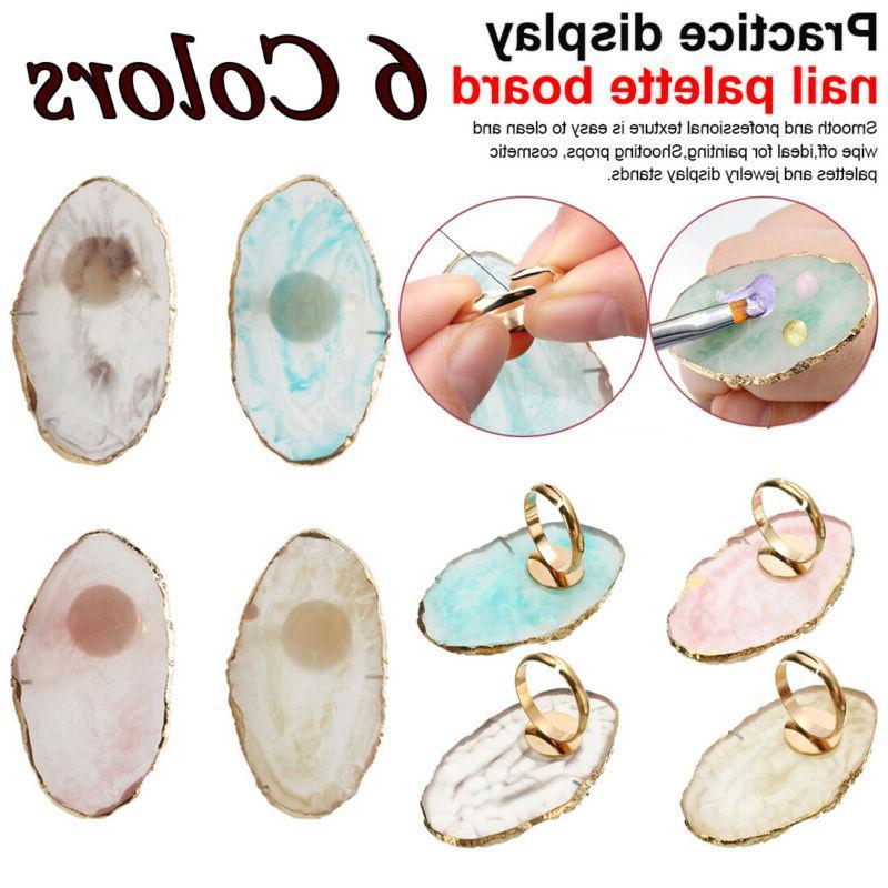 Resin Art Ring Palette Polish UV Gel Mixing Art Equipment