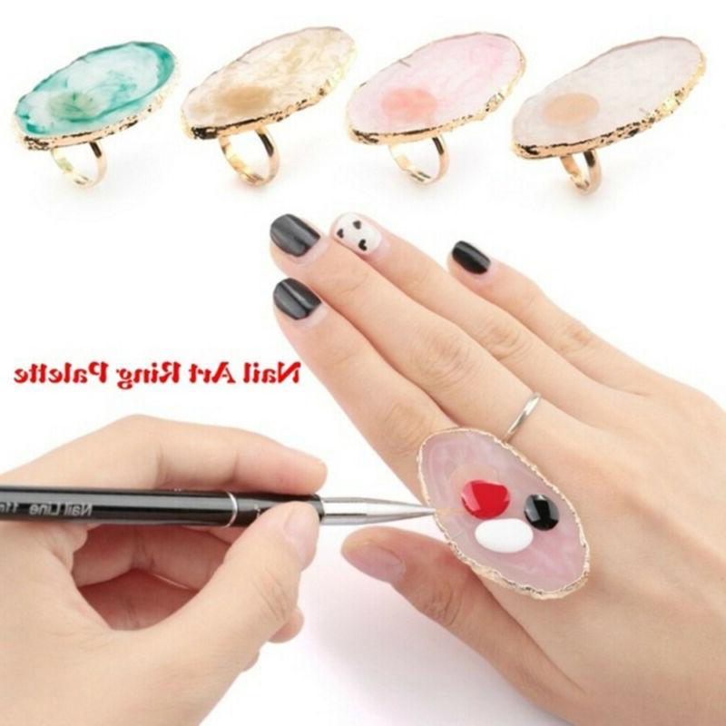 resin stone color nail art ring palette