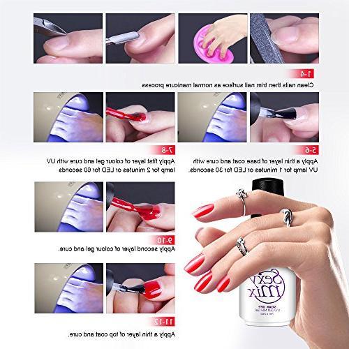 Sexy Mix Polish Set, UV Gel Color Nail Colors Bottles Nice Box