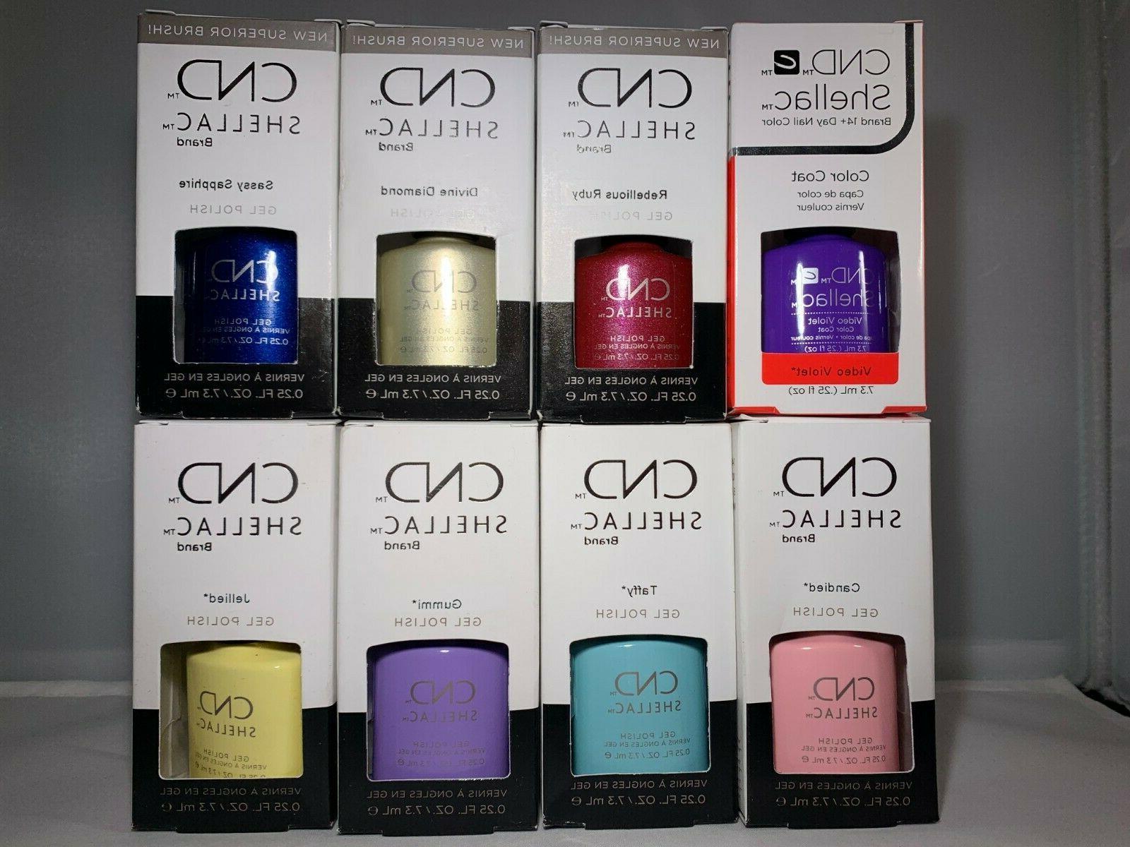 shellac gel polish 25 oz multiple colors