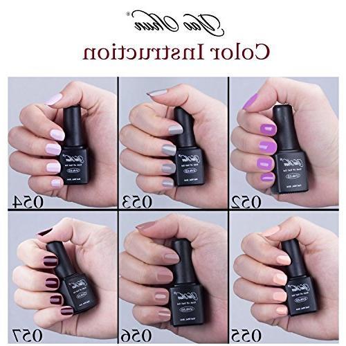 Soak Off Gel Nail Polish Y&S 8ml Shiny Kits Nail Art Colors