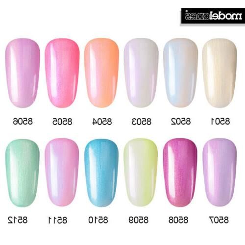 Azure Beauty Soak Off UV LED Gel Nail Polish 8 Pcs 12ml Nude