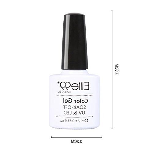 Elite99 Off LED Gel Neon Color Manicure Pedicure 10ML 3709