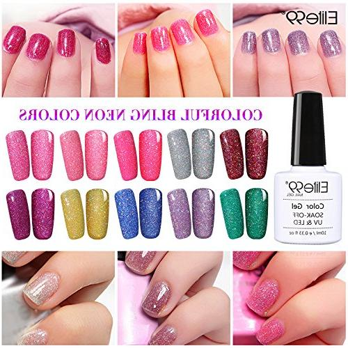 LED Polish Neon Color Manicure Pedicure 10ML