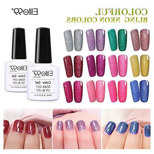 Elite99 LED Gel Neon Nail Manicure Pedicure 10ML 3709
