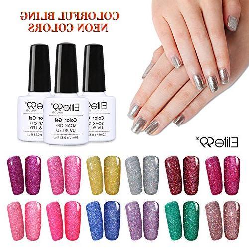 Elite99 Off LED Polish Bling Neon Nail Varnish Manicure