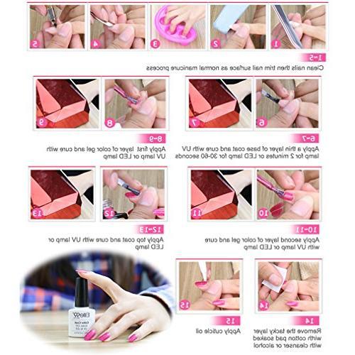Elite99 Soak Off UV LED Gel Polish Neon Manicure Pedicure 10ML 3709