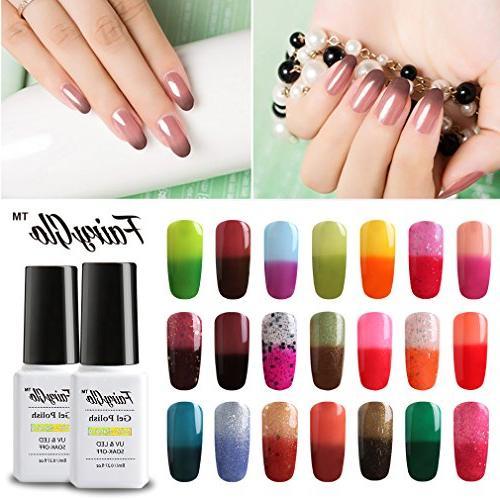 FairyGlo Color Changing Nail Polish LED Temperature Chameleon Soak 8ML 5023