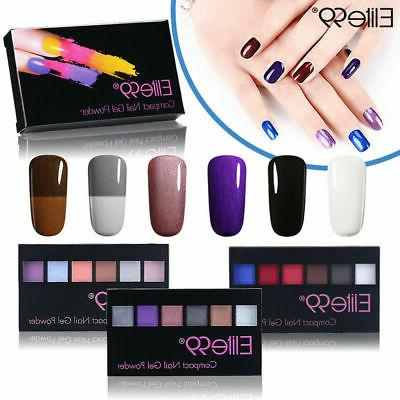 Elite99  6 Colors Pearl Color-Changing Compact Gel Acrylic N