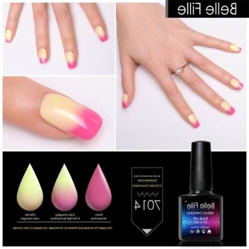 Belle UV Polish Color Glitter Soak BOX