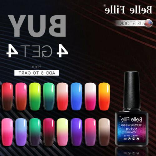 uv gel polish thermal color changing glitter
