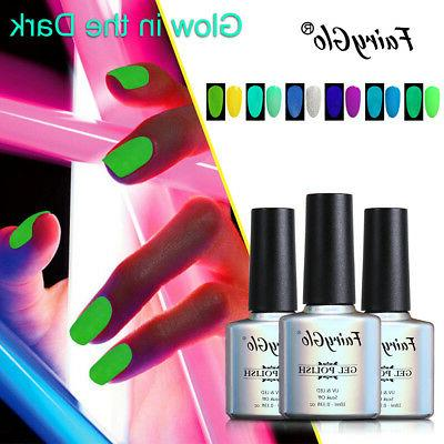 FairyGlo Glow in the Dark Gel Nail Polish UV LED Soak Off Co