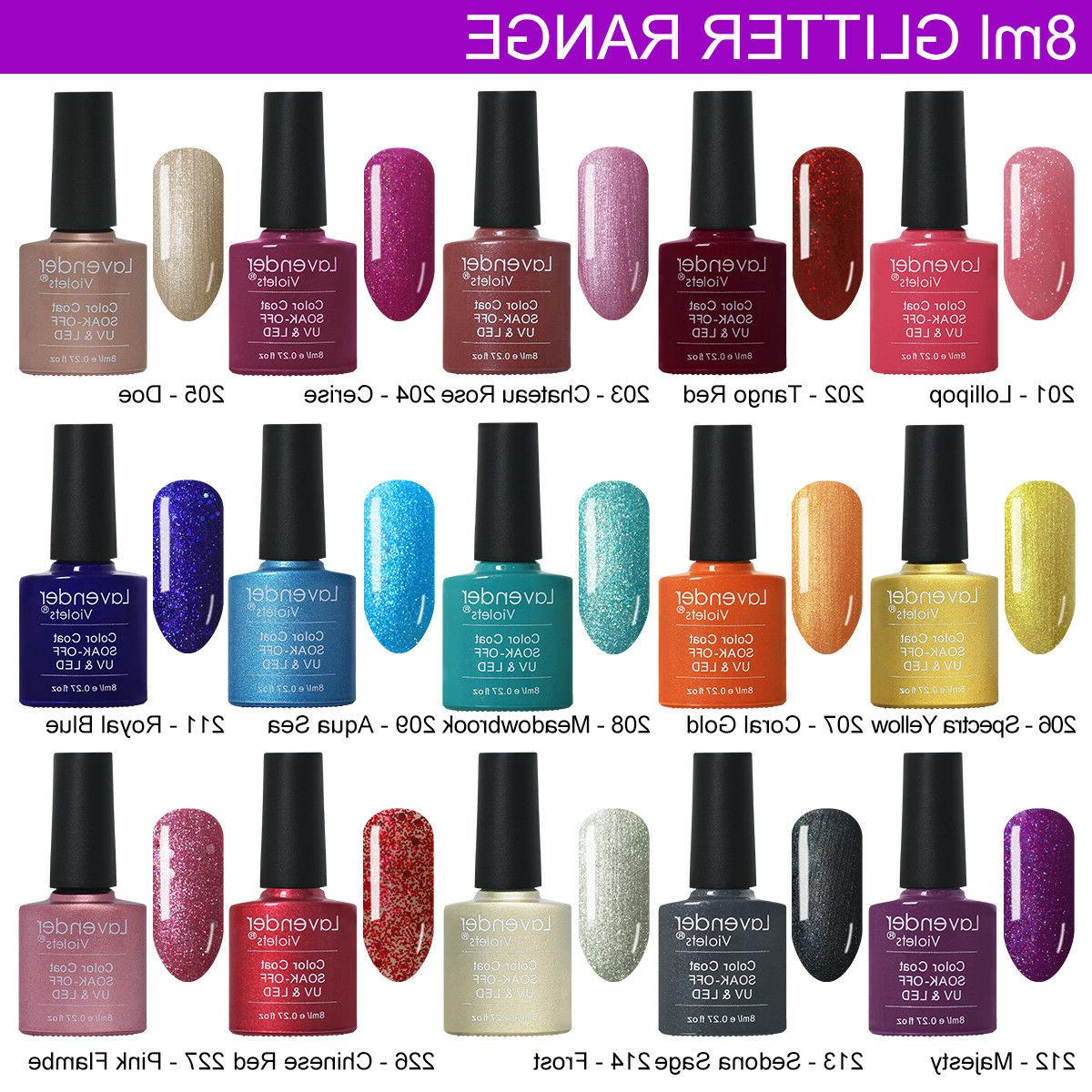 UV Nail Polish Soak off Base Color 8ml Lamp