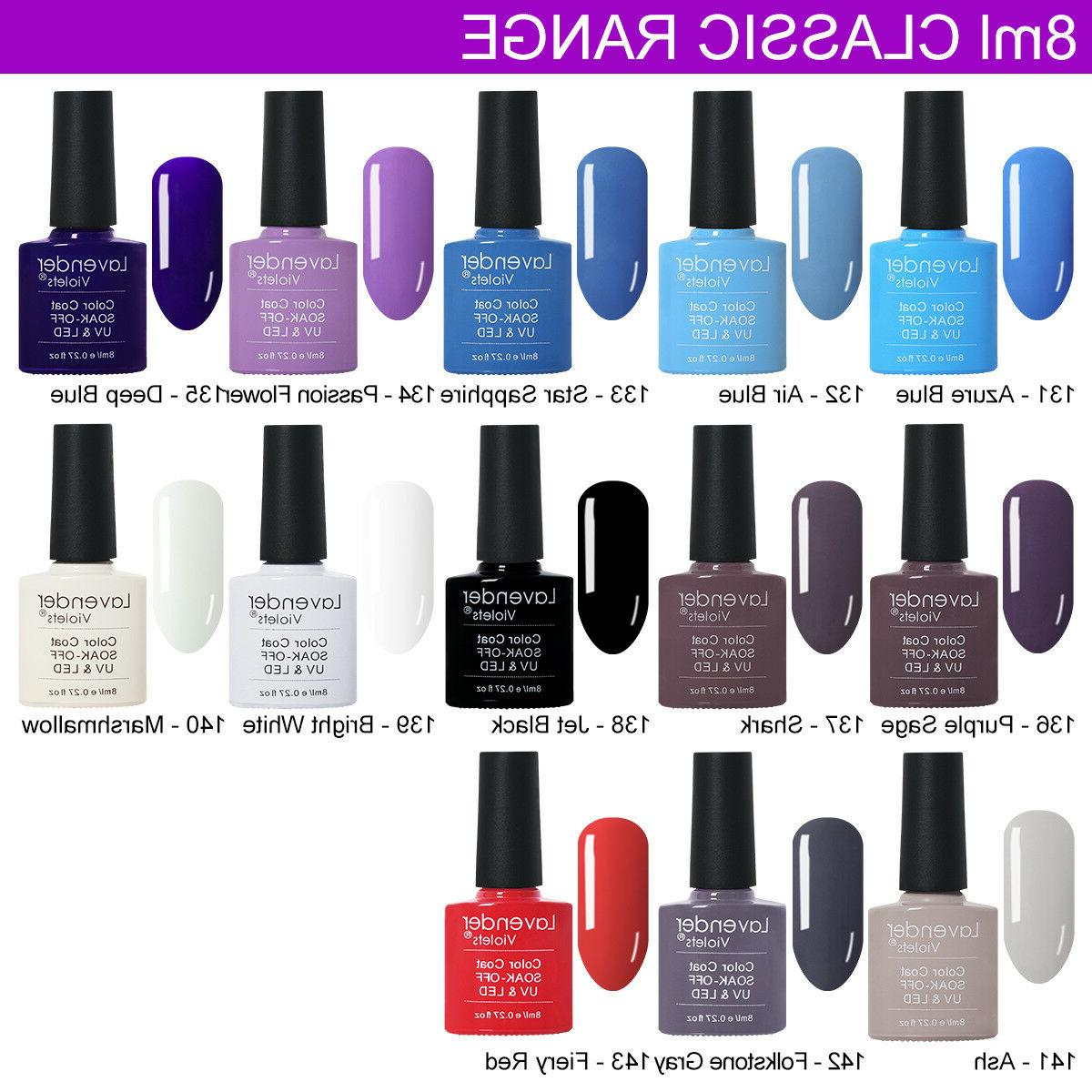 UV LED Polish off Base Top Coat 8ml Lamp