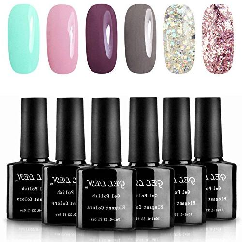 various romantic gel nail polish