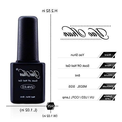 Yaoshun 8ml 8Pcs/lot Soak Off UV Gel Nail Kit