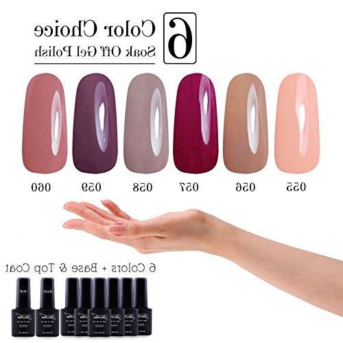 Yaoshun 8ml 8Pcs/lot Soak UV Led Gel Polish Colors Kit