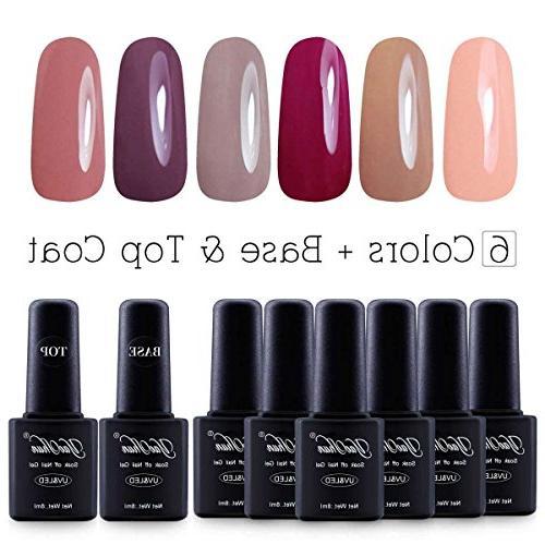 yaoshun brand 8ml 8pcs lot soak off led gel nail polish colo