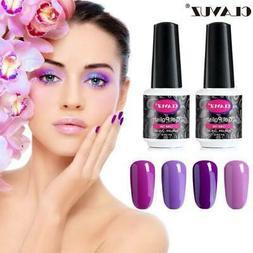 CLAVUZ Lacquer Nail Pinkish Purple Colors Series UV LED Gel
