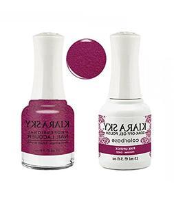 Kiara Sky Matching Gel Polish + Nail Lacquer, Pink Lipstick,