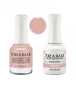 Kiara Sky Matching Gel Polish + Nail Lacquer, Only Natural,