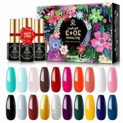 MEFA 23 Pcs Gel Nail Polish Set with Nice Box, Soak Off Nail